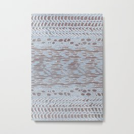 knit patchwork in pale mood Metal Print