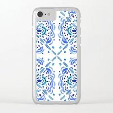 Amalfi Tile Clear iPhone Case