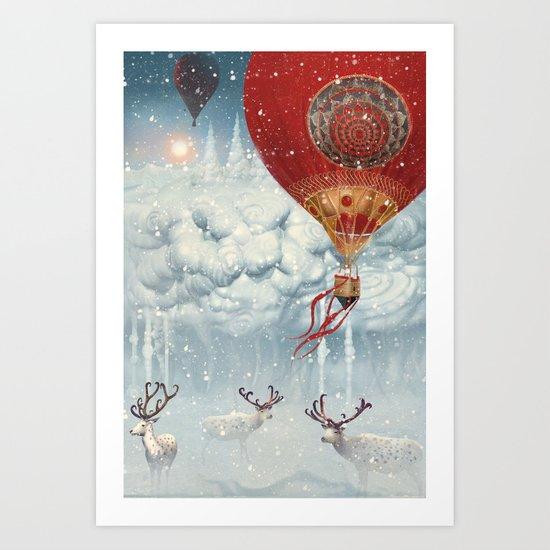 WinterFly Art Print