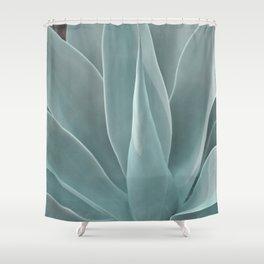 Azul Succulent Agave Plant Shower Curtain