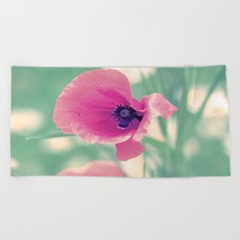 Poppy Time Summer Time Beach Towel