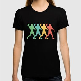 Quarterback Retro Pop Art Football Graphic T-shirt