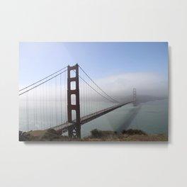 Golden Gate Bridge On A Foggy Morning Metal Print