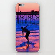 Neon Skimboarder iPhone & iPod Skin