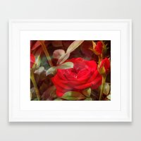 ruby Framed Art Prints featuring Ruby by Aubrey