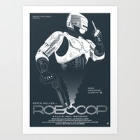 robocop Art Prints featuring Robocop by Alain Bossuyt