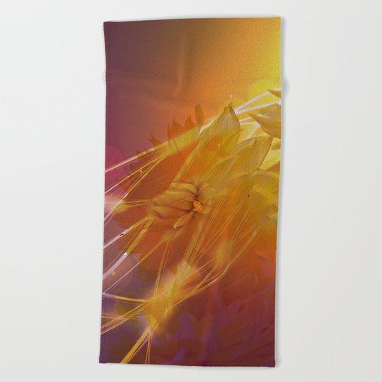 Sun Kissed Dahlia Beach Towel