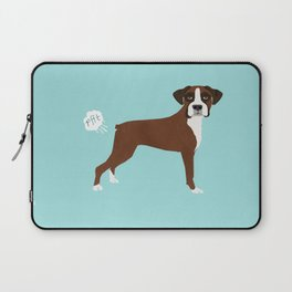 Boxer funny fart dog pure breed gifts dog lovers Laptop Sleeve