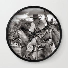 Outlaws Ride Again Wall Clock