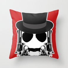 Gun Face Throw Pillow