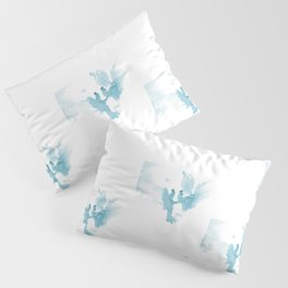 Ink spot in the form of a pair of azure angels Pillow Sham