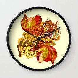 roses meli melo Wall Clock