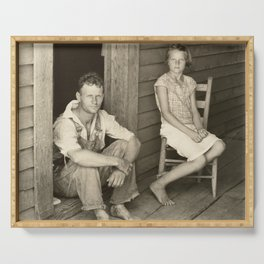 Floyd and Lucille Burroughs by Walker Evans Serving Tray