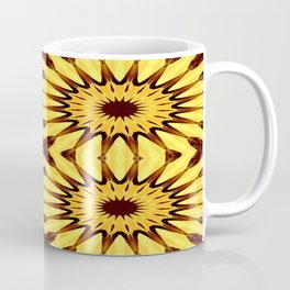 Sunflowers Yellow & Brown Pinwheel Flowers Coffee Mug