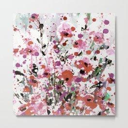 Floral Expression 2p by Kathy Morton Stanion Metal Print