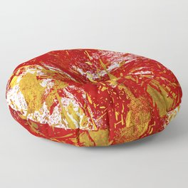 The golden red 1 Floor Pillow