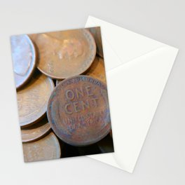 Watercolor Coins, Lincoln Wheat Pennies, 1925 03 Stationery Cards