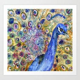 Amethyst Peacock Art Print