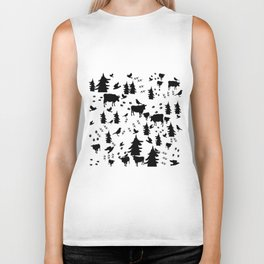Cow Out In the Pasture by Lorloves Design Biker Tank