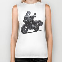 bmw Biker Tanks featuring BMW R1200GS by Ernie Young