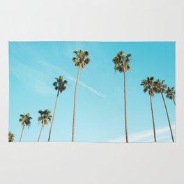 Tropical Miami Palm Trees Rug