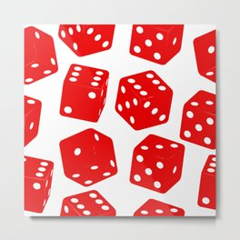 Lucky dice Metal Print