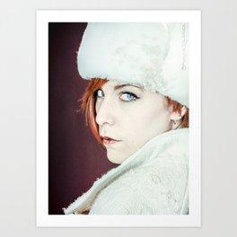The foxy russian woman Art Print
