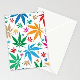 marijuana leaf color pattern Stationery Cards