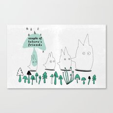 Couple of TOTORO's Friends Canvas Print