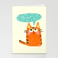 mew Stationery Cards featuring mew. by TangerineCafé