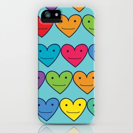Colored hearts iPhone Case