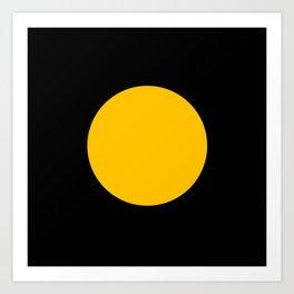 Light in the Dark | Yellow Circle Art Print