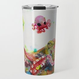 OCTOPUS AND BABY OCTOPUS Travel Mug