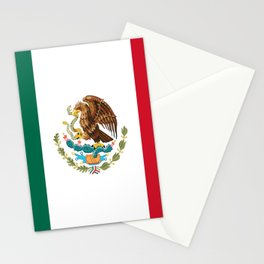 mexican sports fan mexico flag Stationery Cards