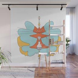 hookah kitty Wall Mural