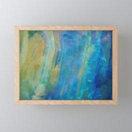 Sunrise Fire Opal Abstract Framed Mini Art Print