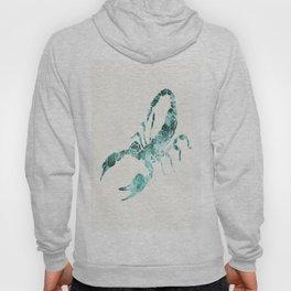 Green Shibori Scorpion  Hoody