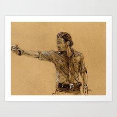 The Walking Dead-Rick Art Print