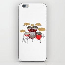 Red Drum Kit iPhone Skin