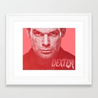 dexter Framed Art Prints featuring DEXTER by Hands in the Sky