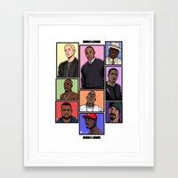 hiphop Framed Art Prints featuring HipHop Legends by Akyanyme