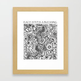 Each Step is a Blessing Framed Art Print