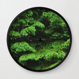 Greenery I Wall Clock