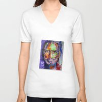 steve jobs V-neck T-shirts featuring steve jobs by yossikotler
