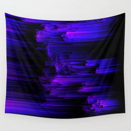 Ultraviolet Light Speed - Abstract Glitch Pixel Art Wall Tapestry