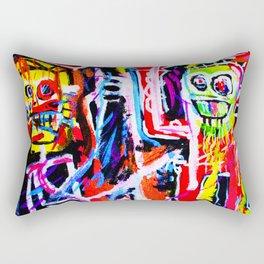 Basquiat's Dustheads Rectangular Pillow