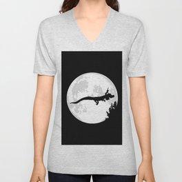 Falkor Moon Black Unisex V-Neck