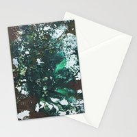 Green abstract liquidity. Stationery Cards