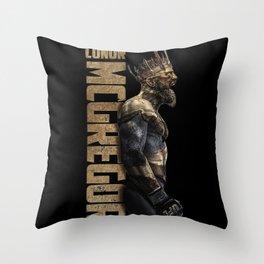 King of UFC conor mcgregor Throw Pillow