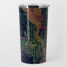 Park Rapids old map year 1969, united states old maps, colorful art Travel Mug